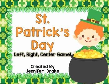 St. Patrick's Day Left, Right, Center Game
