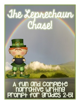 St. Patrick's Day Leprechaun Chase Narrative Writing Prompt Activity