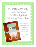 St. Patrick's Day Leprechaun Craftivity and Writing Printable