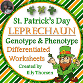 St. Patrick's Day Leprechaun Genotype and Phenotype Punnett Square Worksheets