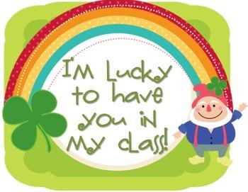 St. Patrick's Day Leprechaun Gift Labels