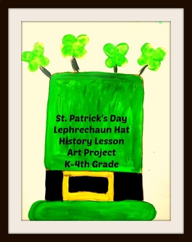 St. Patricks Day Leprechaun Hat Art Lesson Cultural Lesson Project Discussion