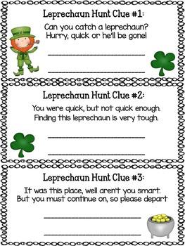 St. Patrick's Day Leprechaun Hunt