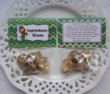 St. Patrick's Day Leprechaun Kisses Mini Treat Bag Toppers