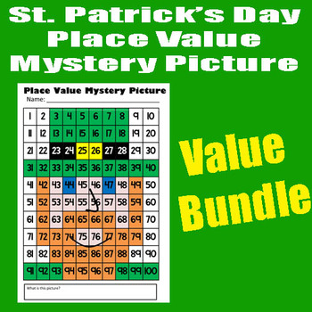 St. Patrick's Day Leprechaun Complete Math Mystery Picture