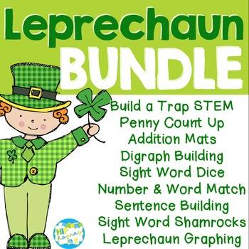 March Leprechaun Literacy Math BUNDLE By Hip Hooray In K Kirstin