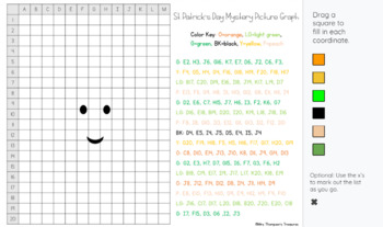 St. Patrick's Day Leprechaun {Mystery Picture Graphing Activity}