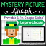 St. Patrick's Day Math Leprechaun Mystery Picture Graphing Activity + Digital