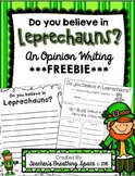 St. Patrick's Day Writing --- Leprechaun Opinion Writing **FREEBIE**