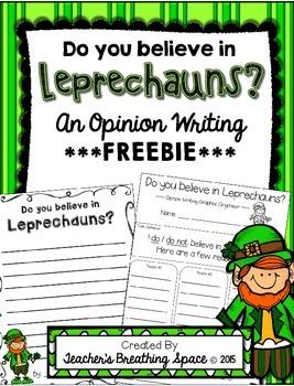 St. Patrick's Day Writing --- Leprechaun Opinion Writing *