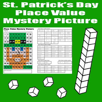 St. Patrick's Day Leprechaun Place Value Math Mystery Pict