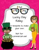 St. Patrick's Day Leprechaun Relay template - Personal Use Only!