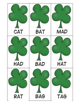 St. Patricks Day: Leprechaun Shenanigans CVC Words