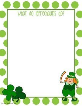St. Patrick's Day Leprechaun Story Starters