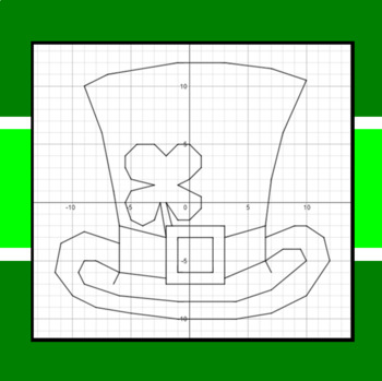 St. Patrick's Day - Leprechaun Topper - A Coordinate Graphing Activity