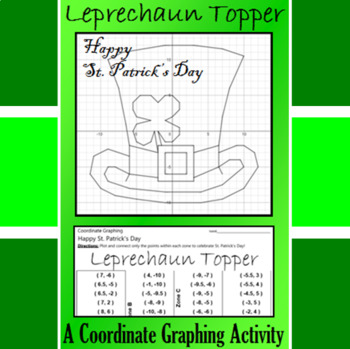 St. Patrick's Day - Leprechaun Topper - A Coordinate Graph