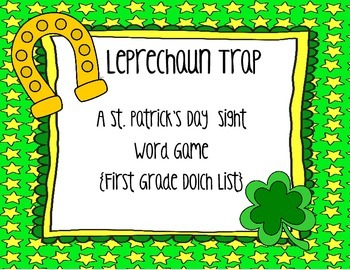 St. Patrick's Day Leprechaun Trap {First Grade Printable Sight Word Game}
