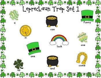St. Patrick's Day Leprechaun Trap {Preschool Printable Sight Word Game}