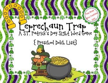 St. Patrick's Day Leprechaun Trap {Preschool Printable Sig