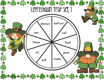 St. Patrick's Day Leprechaun Trap {Second Grade Printable Sight Word Game}