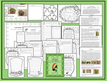 St. Patrick's Day Leprechaun in the Classroom, Reading, Writing, & Art