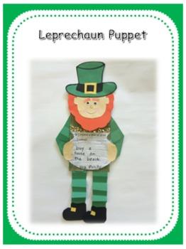 St. Patricks Day Leprechaun puppet
