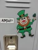 St. Patrick's Day Leprechauns Locker Tags or Bulletin Boar