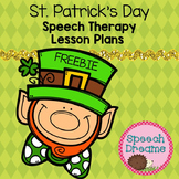 St. Patrick's Day Speech Therapy Lesson Plans and Craft Freebie