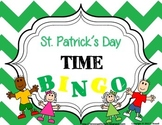 St. Patrick's Day Let's All Tell Time Bingo
