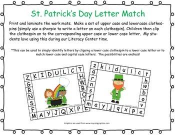 St. Patrick's Day Letter Match