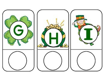 St Patrick's Day Letter Matching Cards