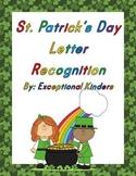 St. Patrick's Day Letter Recognition Card Sets