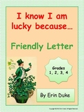 St. Patrick's Day Letter Writing-I know I am lucky because...(Common Core)