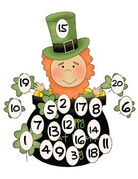St. Patrick's Day Letter and Number Matching Mats and Pieces