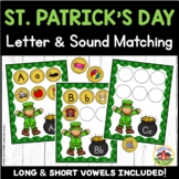 St. Patrick's Day Letter and Sound Matching Activity