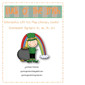"St. Patrick's Day ""Lift the Flap"" Consonant Digraph  Literacy Center"