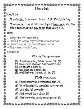 St. Patrick's Day Limerick