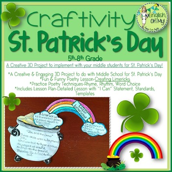 st patricks day limerick poetry lesson craftivity - 30 Limerick Examples Funny Cooperative