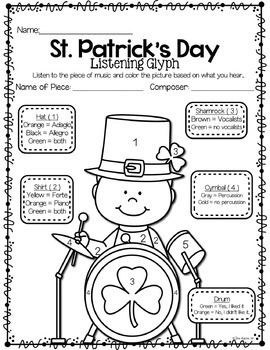 St. Patrick's Day Listening Glyphs