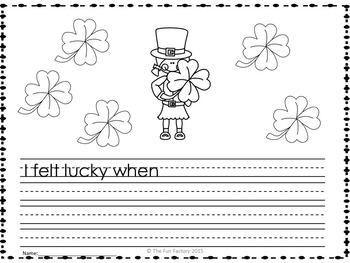 St. Patrick's  Day First Grade Literacy