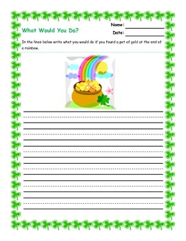 St Patrick's Day Literacy Activities
