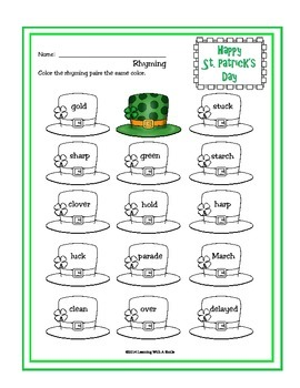 St. Patrick's Day - Quick & Easy Literacy Ideas for March
