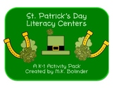 St. Patrick's Day Literacy Centers and Activity Pack