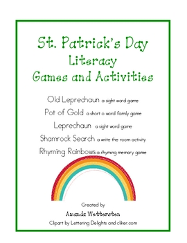 St. Patrick's Day Literacy Games and Activities