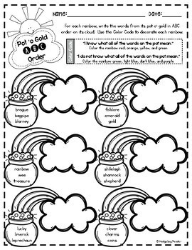 Bundle o' St. Patrick's Day Literacy & Math Activities for big kids