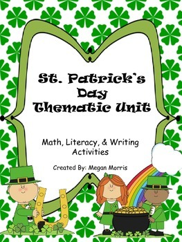 Common Core aligned! St. Patrick's Day Literacy, Math, & W