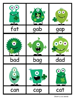St. Patricks Day Literacy Monsters Centers and a Little Math Too!