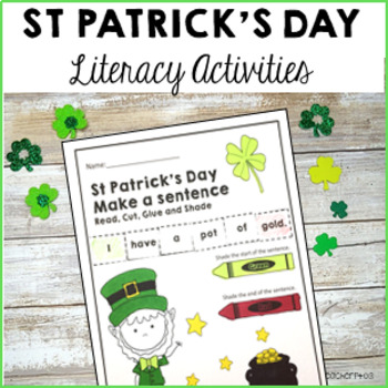 St Patrick's Day Literacy Pack - Sentence Work, Reading, Rhyming, Matching
