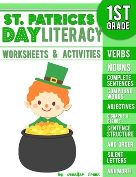 St. Patricks Day Literacy Worksheets and Activities: First Grade