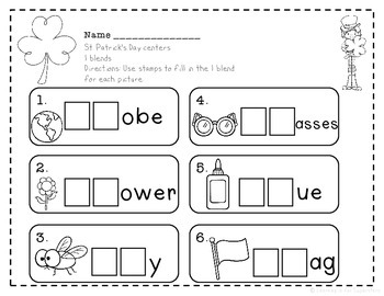 St. Patrick's Day Literacy Write the Room Center Pack